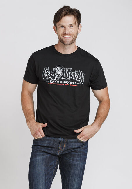 Men's Gas Monkey Garage Tee, BLACK, hi-res