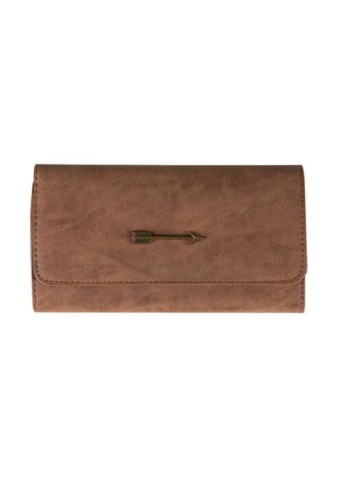 Women's Arrow Wallet, LIGHT BROWN, hi-res