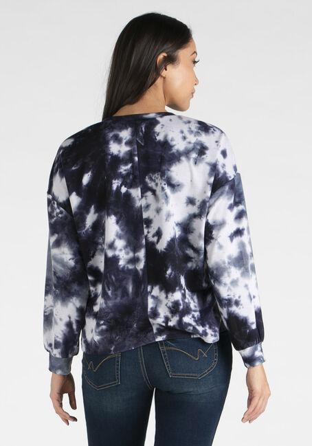 Women's Tie Dye Crew Neck Sweatshirt, BLUE, hi-res