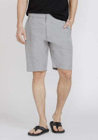 Men's Textured Hybrid Shorts, LIGHT GREY, hi-res