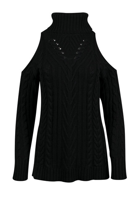 Ladies' Cold Shoulder Sweater