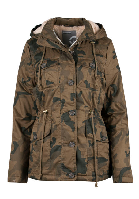 Ladies' Hooded Camo Anorak Jacket