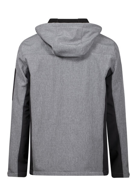 Men's Softshell Jacket, GREY, hi-res