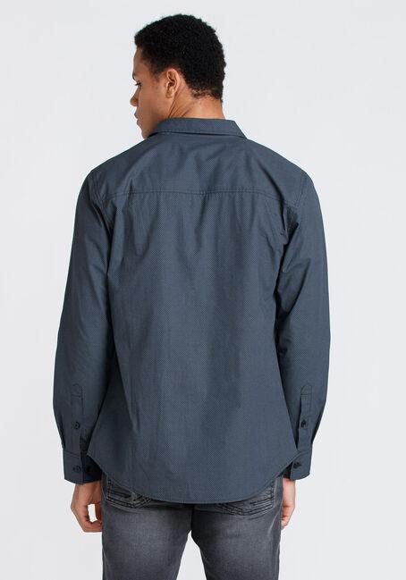 Men's Tonal Print Shirt, BLACK, hi-res