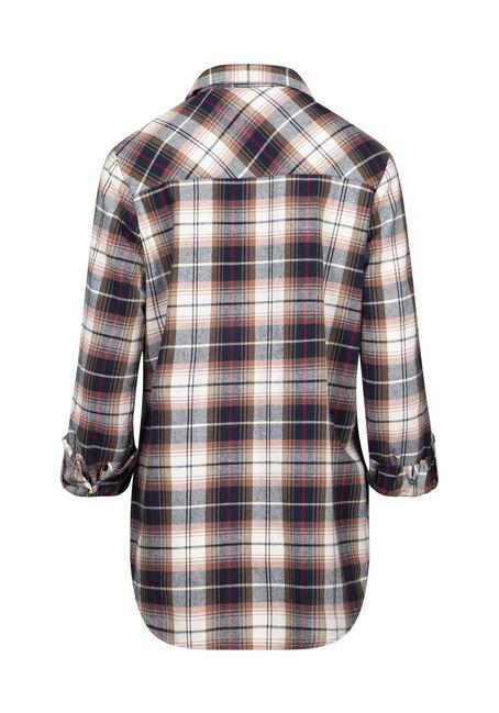 Women's Boyfriend Flannel Shirt, SAND, hi-res