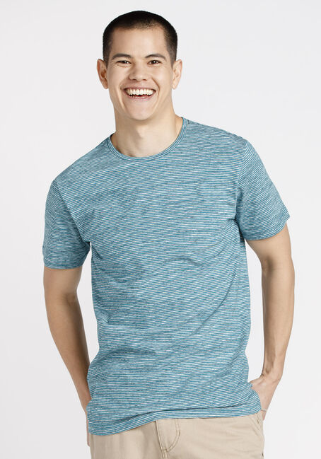 Men's Everyday Mini Stripe Tee, LAGOON, hi-res