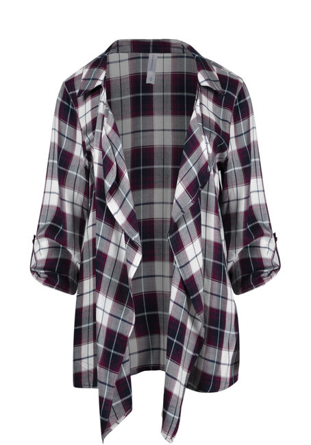 Women's Plaid Cardigan