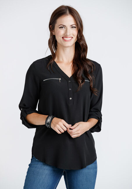 Women's Zip Pocket Blouse