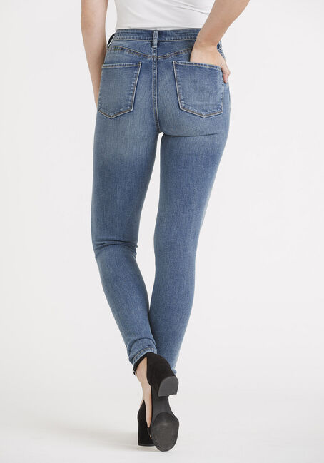 Women's Power Sculpt High Rise Skinny Jeans, MEDIUM WASH, hi-res