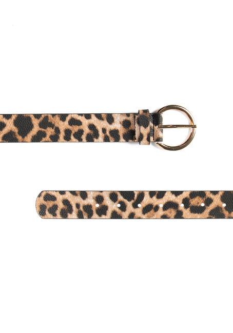 Women's Leopard Belt, BRONZE, hi-res