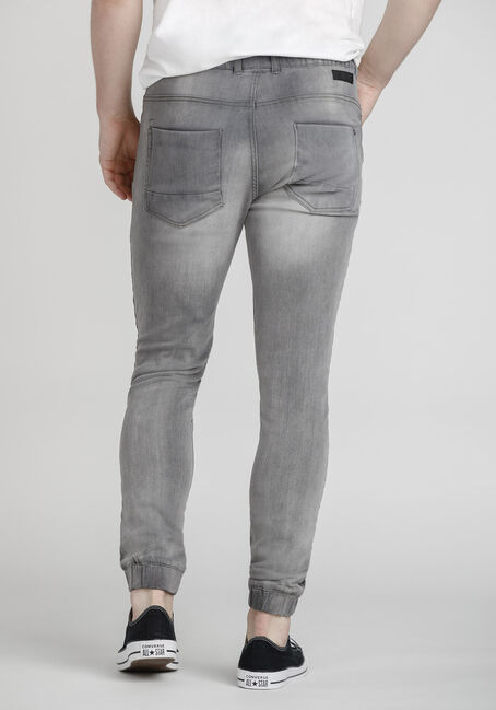Men's Stretch Denim Jogger, GREY, hi-res