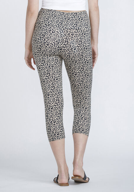 Women's Super Soft Leopard Capri Legging, BROWN, hi-res