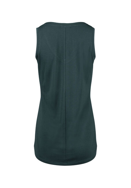 Women's Relaxed Fit V-Neck Tank, FOREST, hi-res