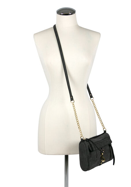 Women's Clip Front Cross Body Bag, CHARCOAL, hi-res