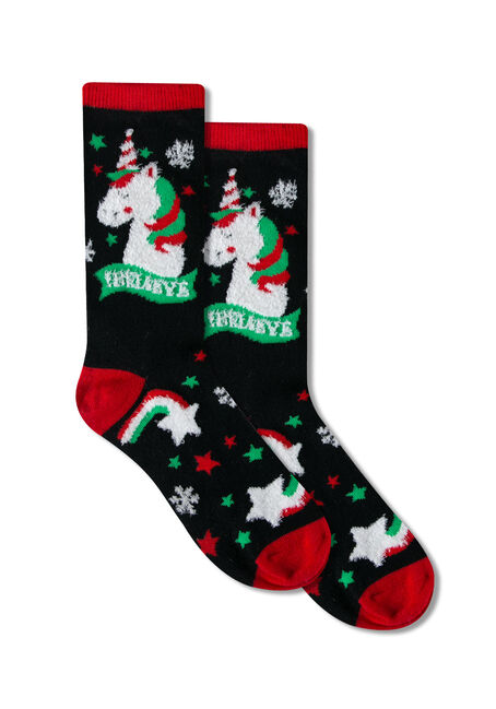 Ladies' Festive Unicorn Socks