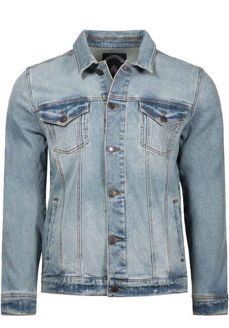 Men's Light Wash Jean Jacket