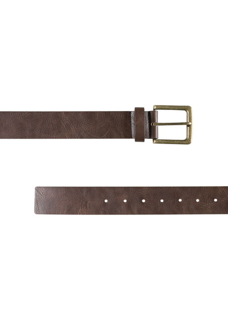 Men's Essential Brown Belt, BROWN, hi-res
