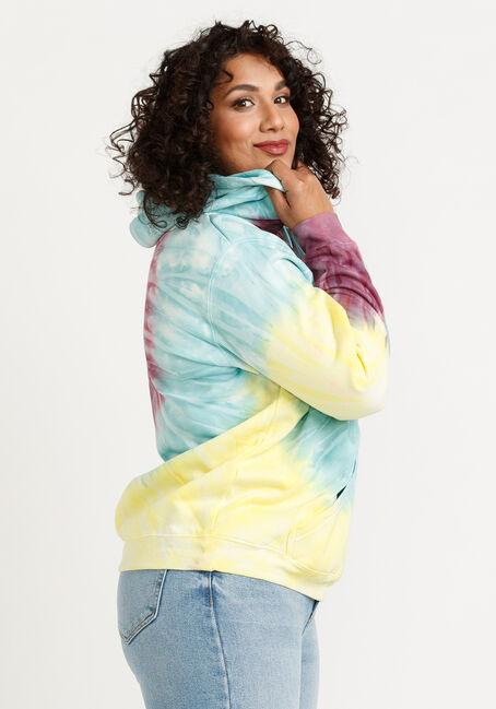 Women's Tie Dye Hoodie, MULTI, hi-res