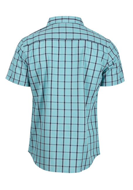 Men's Checkered Plaid Shirt, AQUA GREEN, hi-res