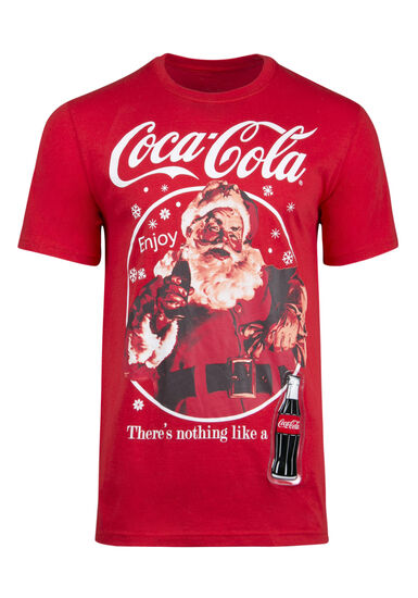 Men's Coca-Cola Light UpTee, RED, hi-res