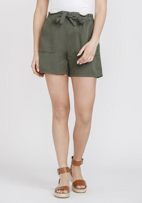 Women's Tie Front Soft Short