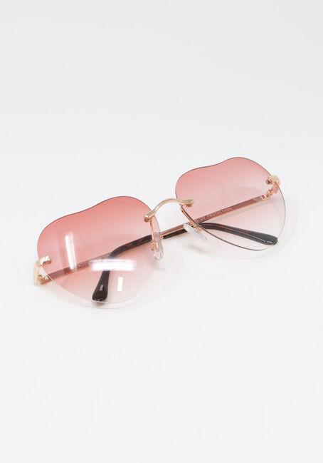 Women's Heart Frame Aviator Sunglasses