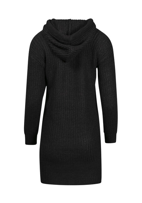 Women's Hooded Pullover Tunic, BLACK, hi-res