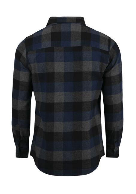 Men's Plaid Flannel Shirt, ROYAL BLUE, hi-res