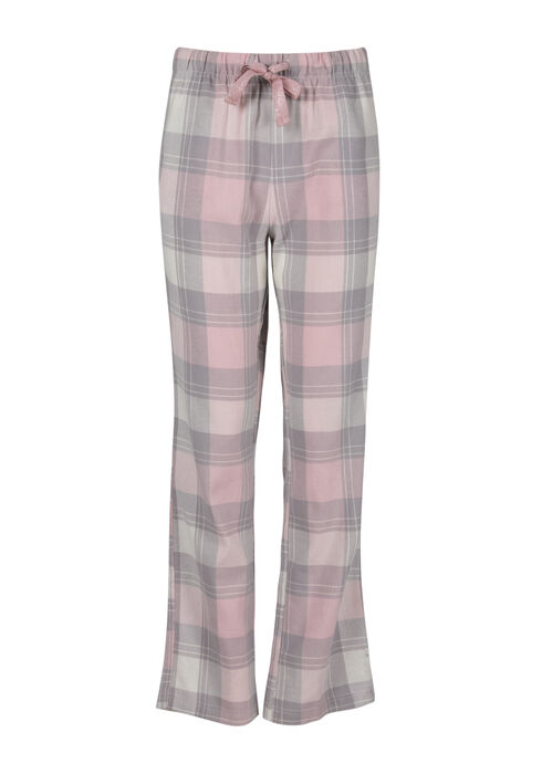 Women's Plaid Flannel Pant, TICKLED PINK, hi-res