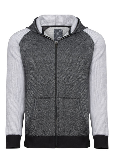 Men's Colour Block Zip Front Hoodie