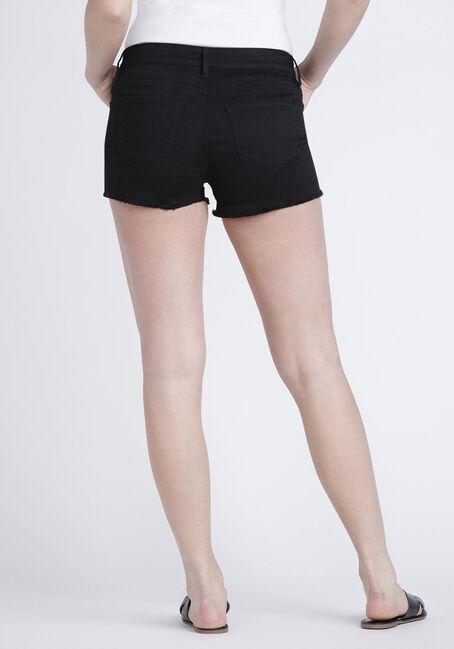 Women's Destroyed Coloured Short, BLACK, hi-res