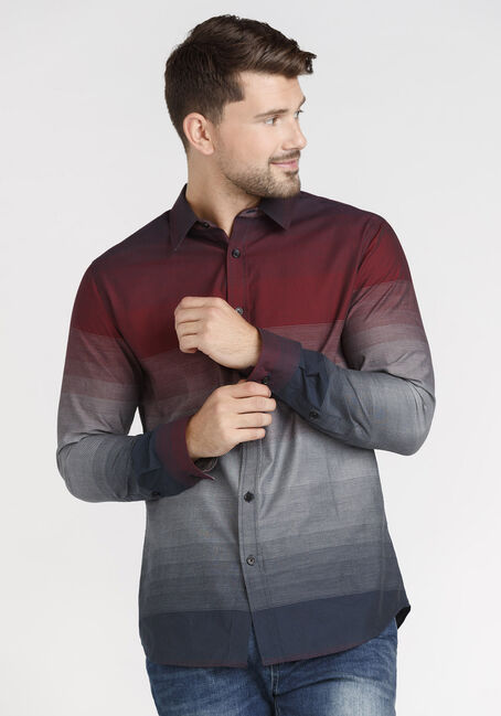 Men's Ombre Striped Shirt