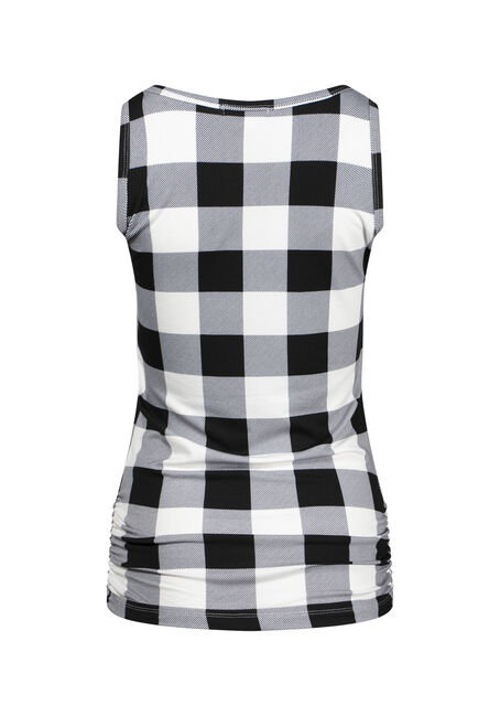 Women's Plaid Super Soft Tank, WHT PLAID, hi-res