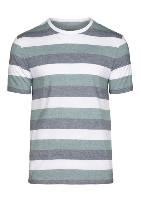 Men's Everyday Striped Crew NeckTee