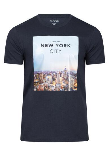 Men's New York Tee, NAVY, hi-res