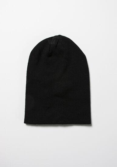 Women's Ribbed Hat, BLACK, hi-res