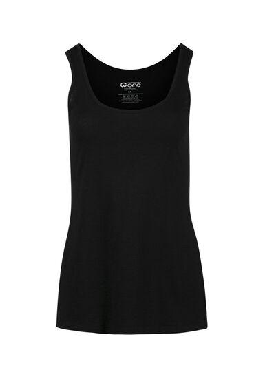 Women's Scoop Neck Tank, BLACK, hi-res