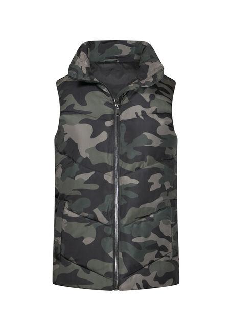 Women's Camo Puffer Vest