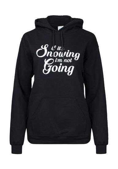 Women's If It's Snowing Hoodie, BLACK, hi-res