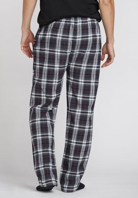Men's Plaid Flannel Sleep Pant, PLUM WINE, hi-res