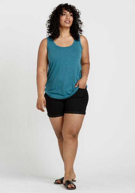 Women's Scoop Neck Loose Fit Tank, BERMUDA BLUE, hi-res