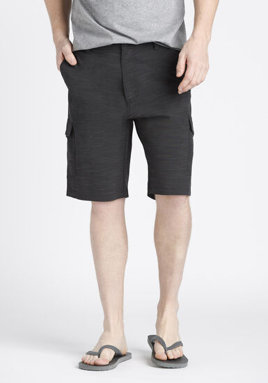Men's Hybrid Cargo Short, BLACK, hi-res