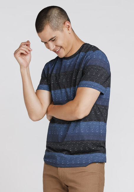 Men's Everyday Striped Tee, MIDNIGHT NAVY, hi-res