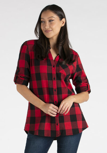 Women's Twill Plaid Shirt