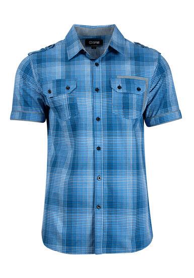Men's Plaid Shirt, ROYAL BLUE, hi-res