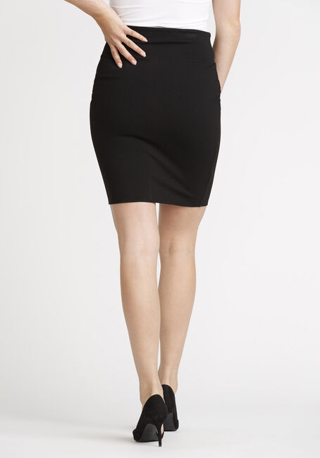Women's High Waist Skirt, BLACK, hi-res