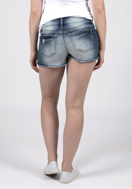 Ladies' Curvy Destroyed Short, MEDIUM VINTAGE WASH, hi-res