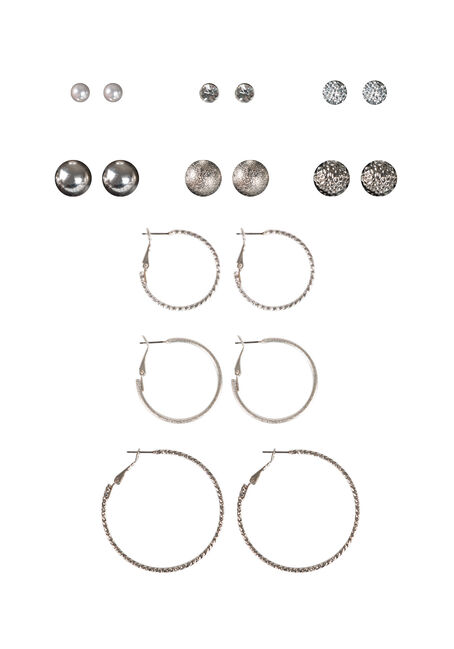 Ladies' 9 Pair Classic Earring Set