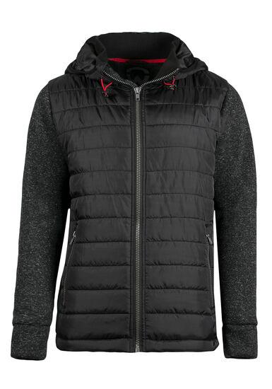 Men's Quilted Jacket, BLACK, hi-res