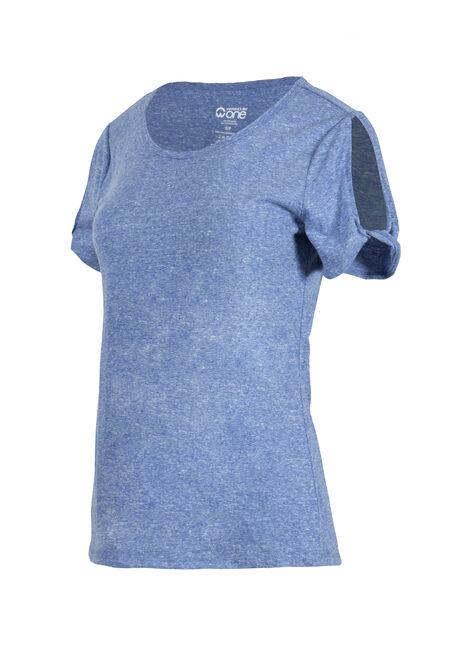 Women's Split Sleeve Tee, COBALT, hi-res